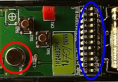 FAAC 433DS 2 Mini Interrupteurs