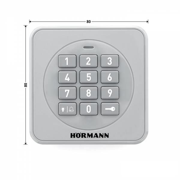 Clavier à code Hörmann FCT 3-1BS Dimensions Front